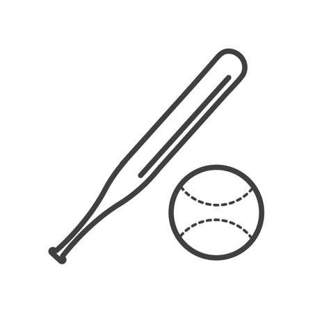 Illustration for Baseball bat and ball - Royalty Free Image