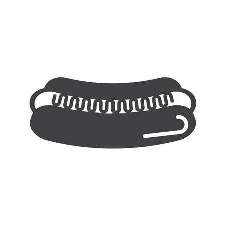 Illustration for Hotdog icon - Royalty Free Image