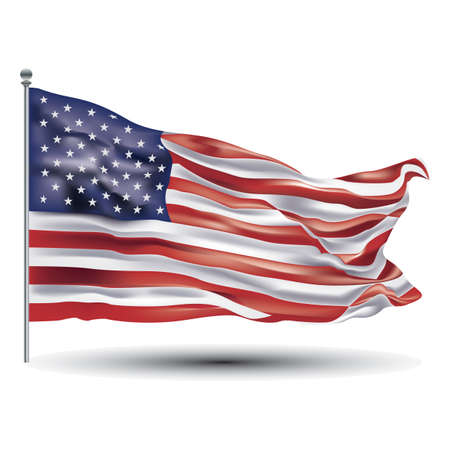 Illustration pour american flag - image libre de droit
