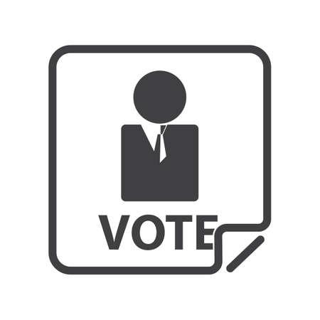 Ilustración de election candidate - Imagen libre de derechos