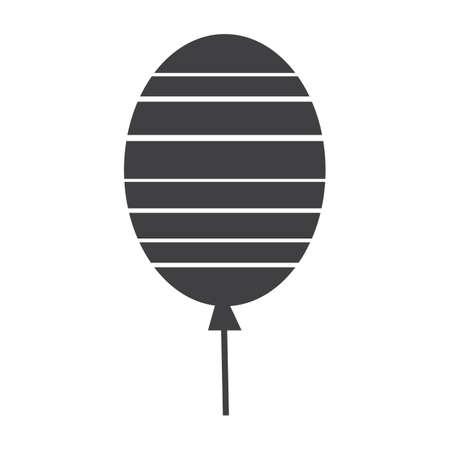 Illustration pour balloon with stripes - image libre de droit