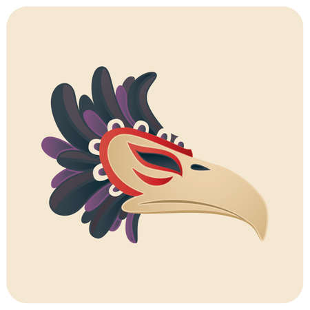 Illustration pour beak carnival mask - image libre de droit