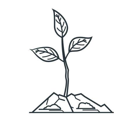 Illustration pour sapling - image libre de droit