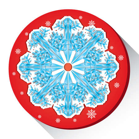 Illustration for snow flake - Royalty Free Image