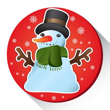 Illustration pour snow man - image libre de droit