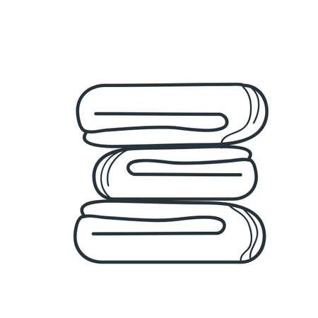 Ilustración de spa towels - Imagen libre de derechos