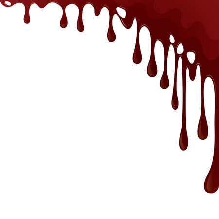 Illustration pour dripping blood background - image libre de droit