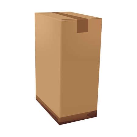 Illustration pour cardboard box - image libre de droit