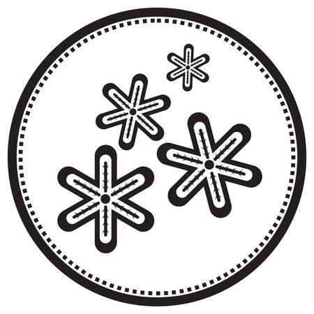 Illustration for snowflakes - Royalty Free Image