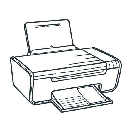 Ilustración de printer - Imagen libre de derechos