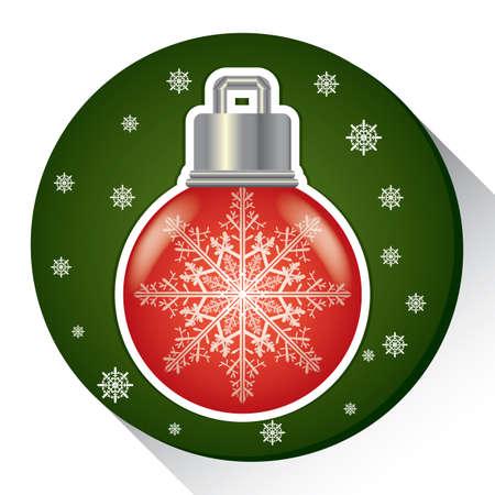 Illustration for snow flake bulb - Royalty Free Image