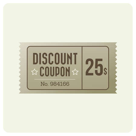 Ilustración de discount coupon - Imagen libre de derechos
