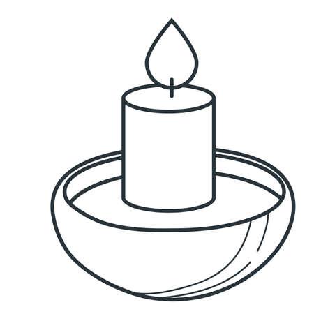 Ilustración de candle - Imagen libre de derechos