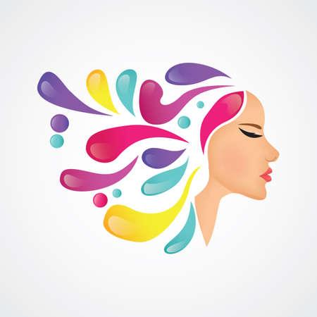Illustration pour design concept for beauty salon - image libre de droit