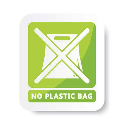 Ilustración de no plastic bag - Imagen libre de derechos