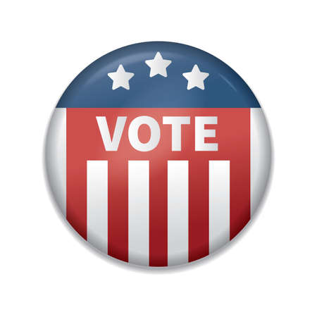 Illustration pour usa vote badge - image libre de droit