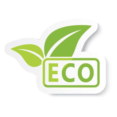 Ilustración de eco logo - Imagen libre de derechos