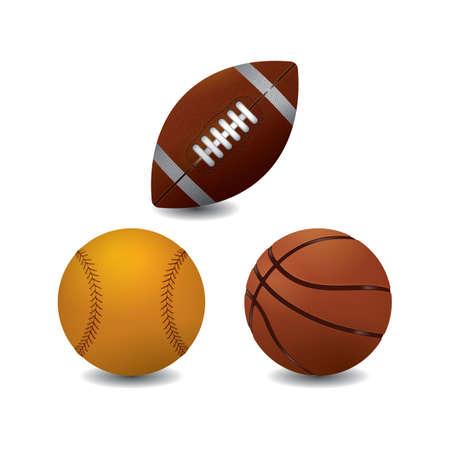 Ilustración de Collection of sport balls - Imagen libre de derechos