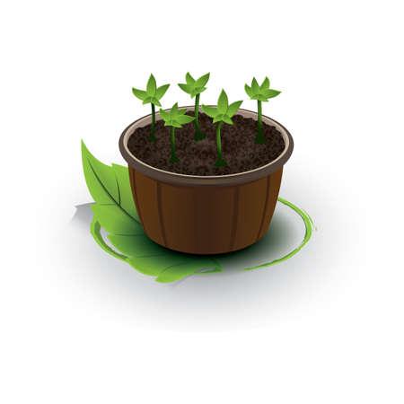 Ilustración de flower pot - Imagen libre de derechos