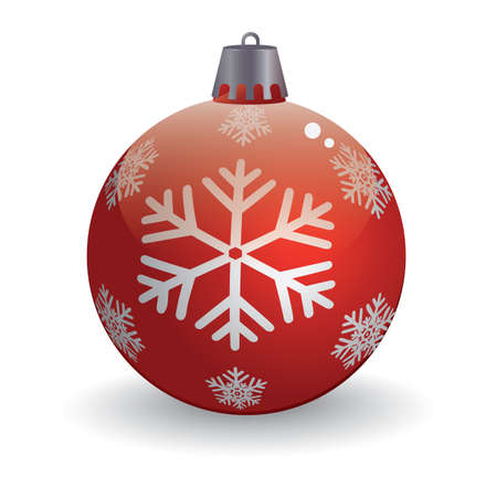Illustration for christmas snowflake in ball - Royalty Free Image