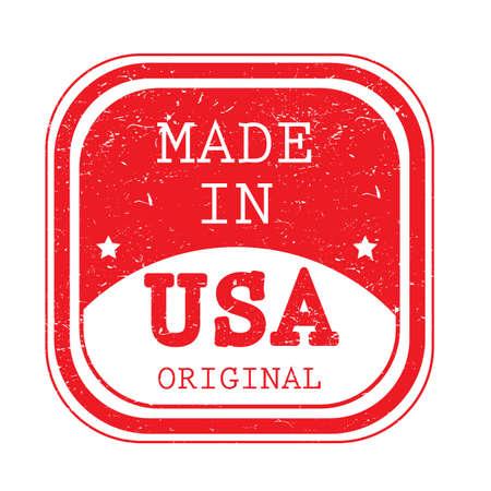 Ilustración de A made in USA label. - Imagen libre de derechos