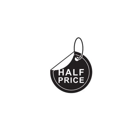Ilustración de half price tag - Imagen libre de derechos