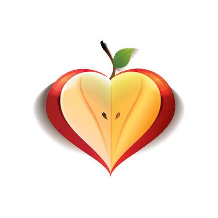 Illustration pour heart apple - image libre de droit