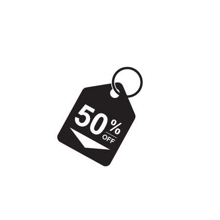 Ilustración de 50 percent off tag - Imagen libre de derechos