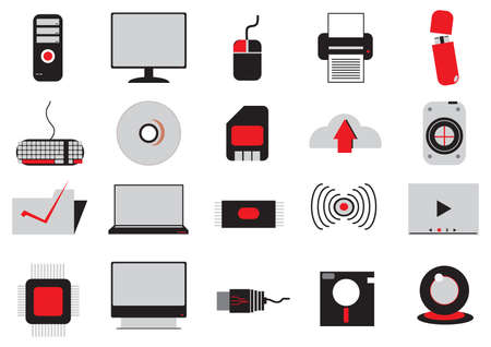 Illustrazione per set of electrical gadgets - Immagini Royalty Free