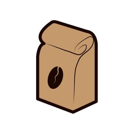 Illustration pour coffee beans pack - image libre de droit