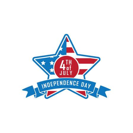 Illustration pour usa independence day banner - image libre de droit