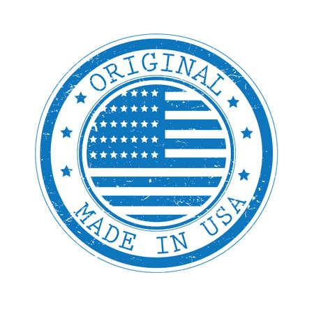 Ilustración de A made in USA label illustration. - Imagen libre de derechos