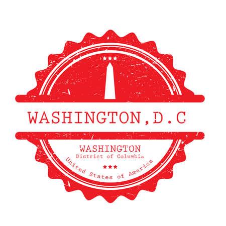 Illustration pour Washington label illustration. - image libre de droit
