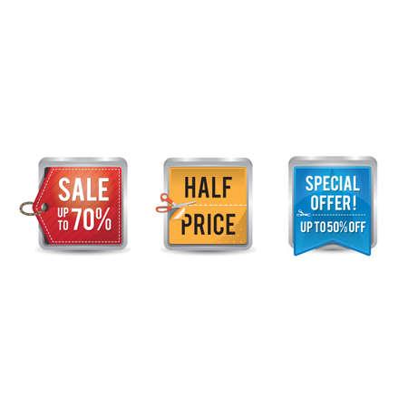 Ilustración de set of sale tags and labels - Imagen libre de derechos