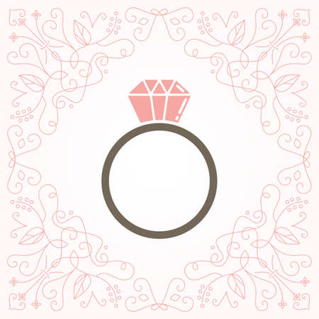 Illustration for Ring icon - Royalty Free Image