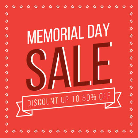 Illustration for memorial day promotion - Royalty Free Image