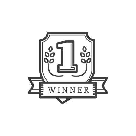 Illustration for winner shield - Royalty Free Image