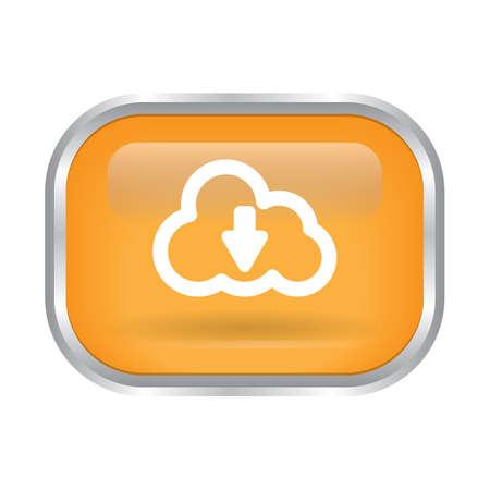 Illustration pour cloud download button - image libre de droit