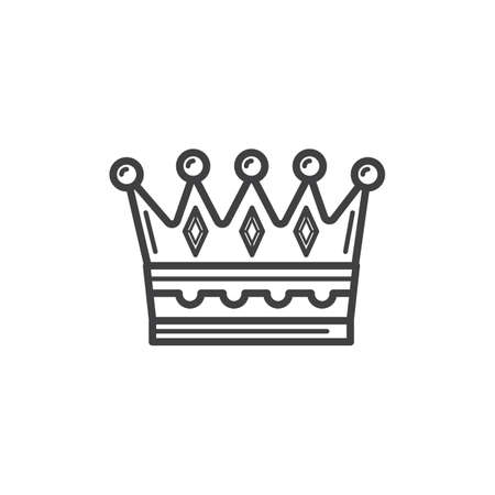 Illustration for crown - Royalty Free Image