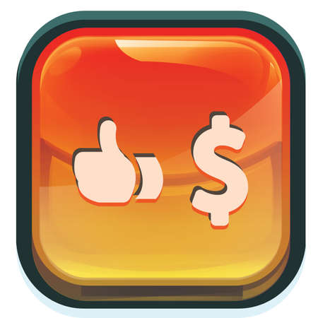 Illustration pour dollar and like gesture - image libre de droit