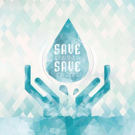 Illustration pour save water save earth concept - image libre de droit