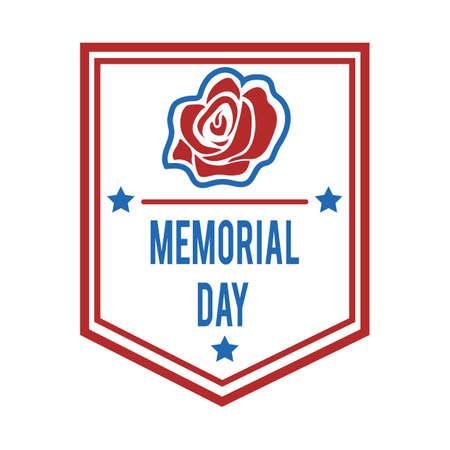 Ilustración de Memorial day label. - Imagen libre de derechos