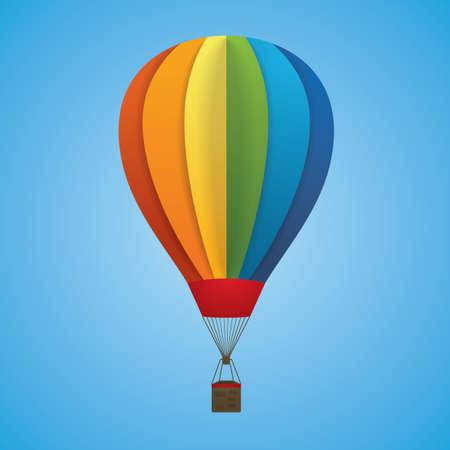 Illustration pour Hot air balloon - image libre de droit
