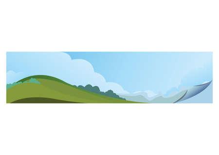 Illustration pour A landscape banner illustration. - image libre de droit