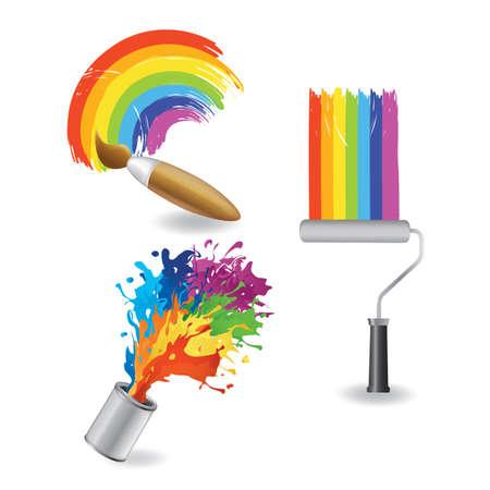 Ilustración de rainbow paint collection - Imagen libre de derechos