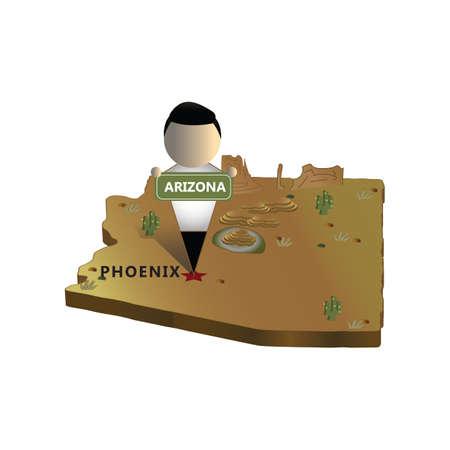 Ilustración de arizona state map - Imagen libre de derechos