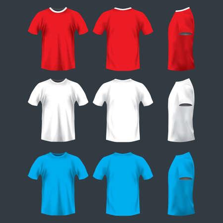 Illustration pour man's t-shirt - image libre de droit