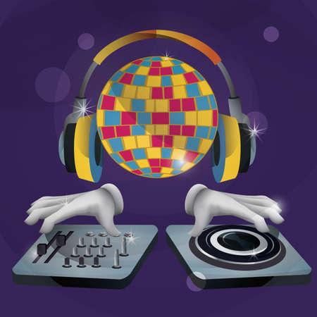 Illustration pour DJ equipment - image libre de droit