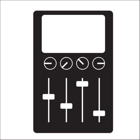 Illustration pour Console mixer - image libre de droit