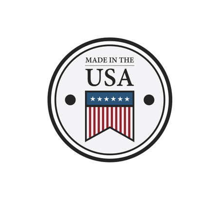 Illustration pour made in usa badge - image libre de droit